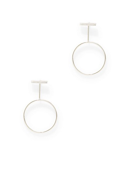 Bar-Accent Circular Drop Earring  - New York & Company