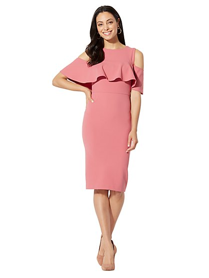 Bare-Shoulder Sheath Dress - New York & Company
