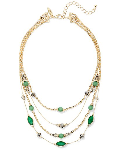Beaded 4-Row Necklace  - New York & Company