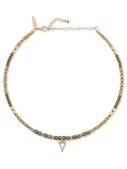Beaded Choker Pendant Necklace  - New York & Company