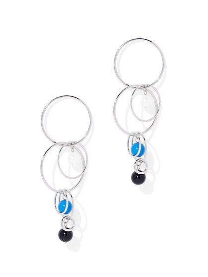 Beaded Circle Drop Earring - New York & Company