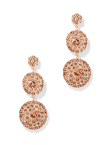 Beaded Circular Drop Earring - New York & Company