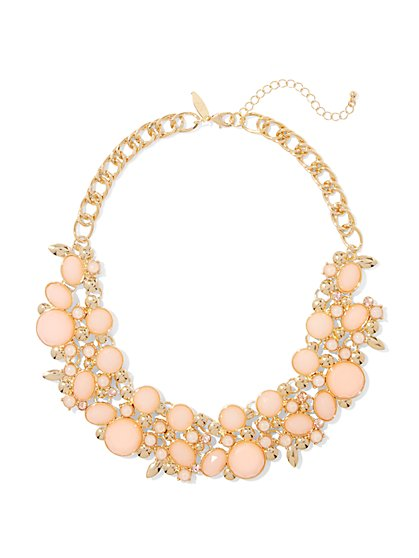 Beaded Cluster Statement Necklace  - New York & Company