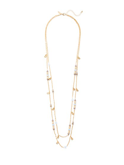 Beaded Double-Row Necklace  - New York & Company