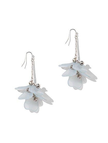 Beaded Drop Earring - Blue - New York & Company