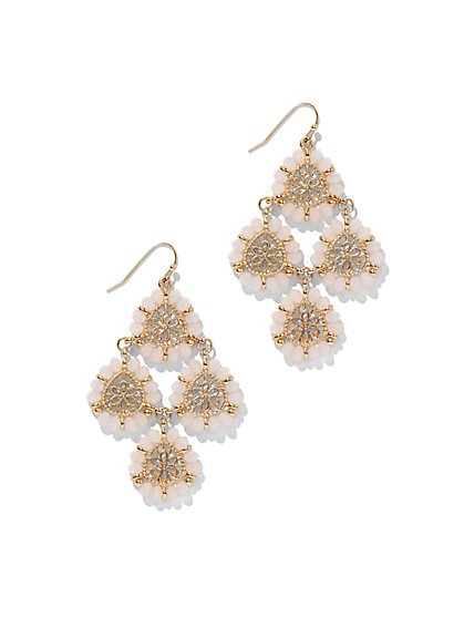 Beaded Filigree Chandelier Drop Earring  - New York & Company