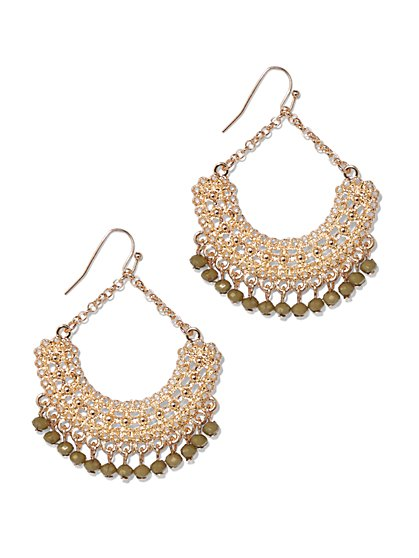 Beaded Filigree Drop Earring  - New York & Company