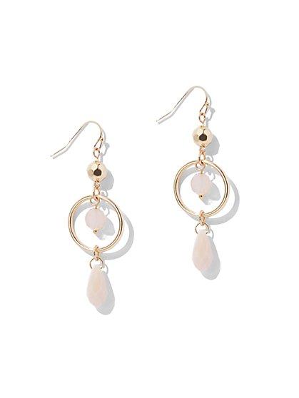 Beaded Goldtone Drop Earring - New York & Company