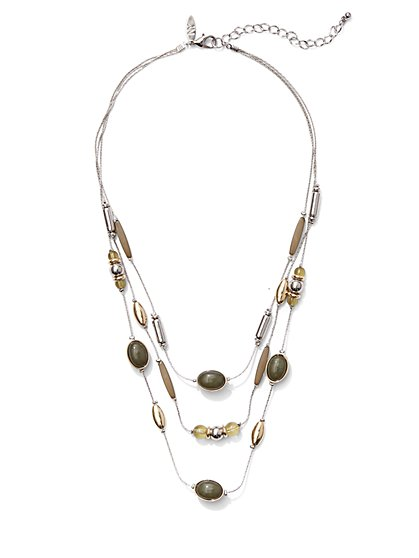 Beaded Illusion Necklace  - New York & Company