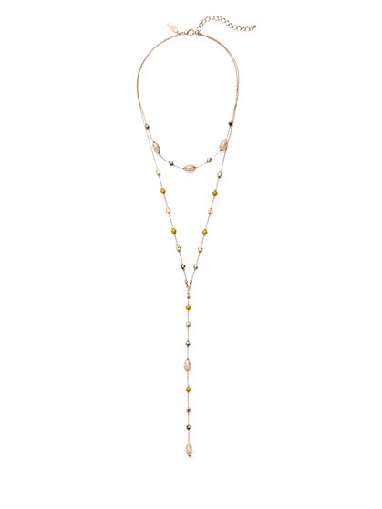 Beaded Lariat Necklace  - New York & Company