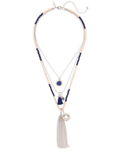 Beaded Layered Necklace  - New York & Company