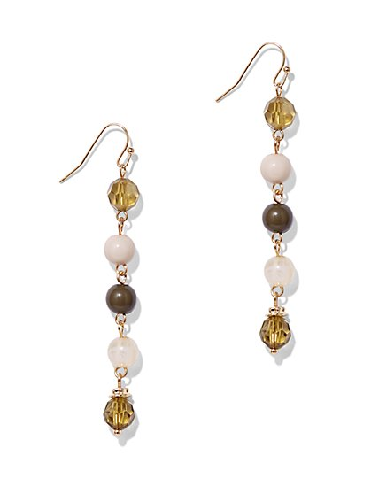 Beaded Linear Drop Earring  - New York & Company