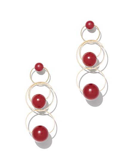 Beaded Link Drop Earring - New York & Company