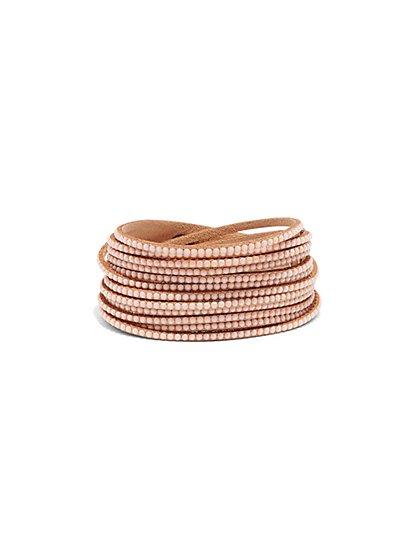 Beaded Multi-Row Wrap Bracelet  - New York & Company