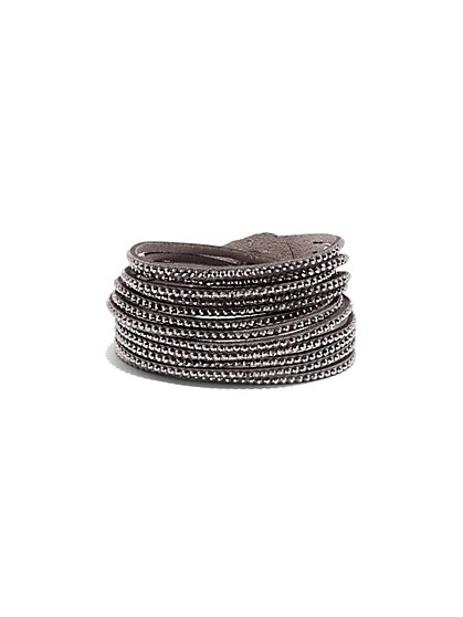 Beaded Multi-Row Wrap Bracelet  - New York & Company