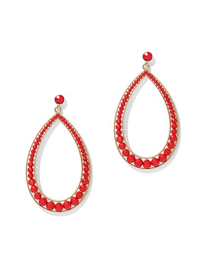 Beaded Oval Drop Earring - New York & Company