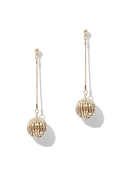 Beaded Spherical Drop Earring - New York & Company