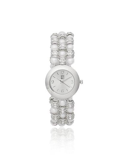 Beaded Stretch Band Watch - New York & Company