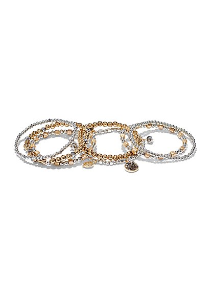 Beaded Stretch Bracelet Set - New York & Company
