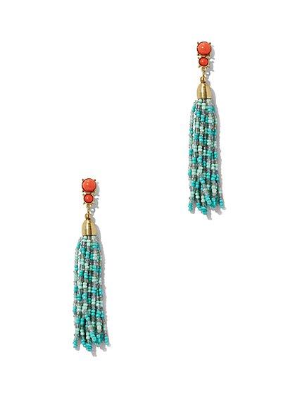Beaded Tassel Drop Earring  - New York & Company