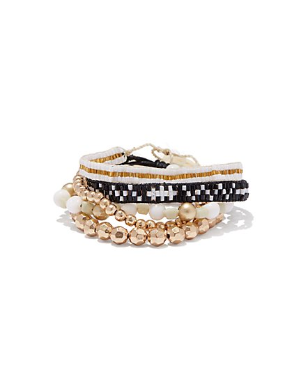 Beaded Wrap Bracelet  - New York & Company