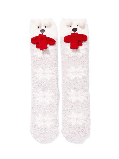 Bear Cozy Sock - New York & Company