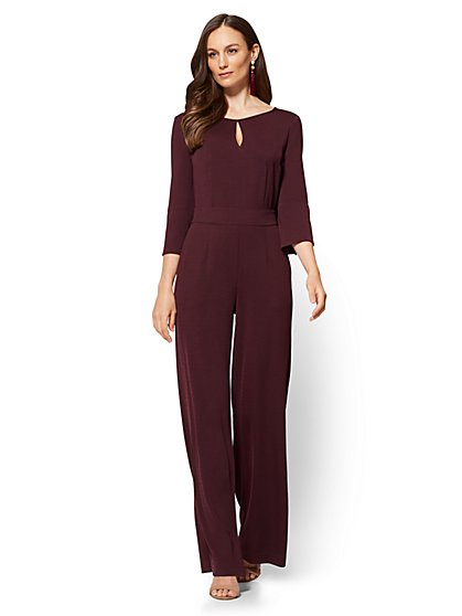Bell-Sleeve Jumpsuit - Petite  - New York & Company
