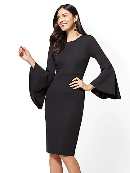 Bell-Sleeve Sheath Dress - New York & Company