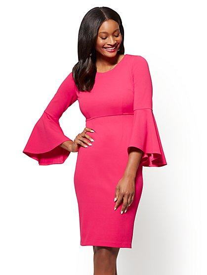 Bell-Sleeve Sheath Dress - New York & Company