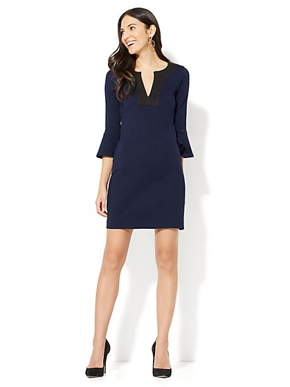 Bell-Sleeve Shift Dress - New York & Company
