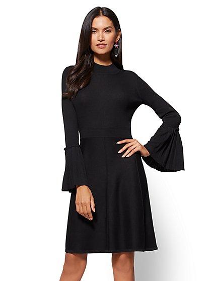 Bell-Sleeve Sweater Dress - New York & Company