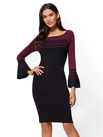 Bell-Sleeve Sweater Dress - New York & Company