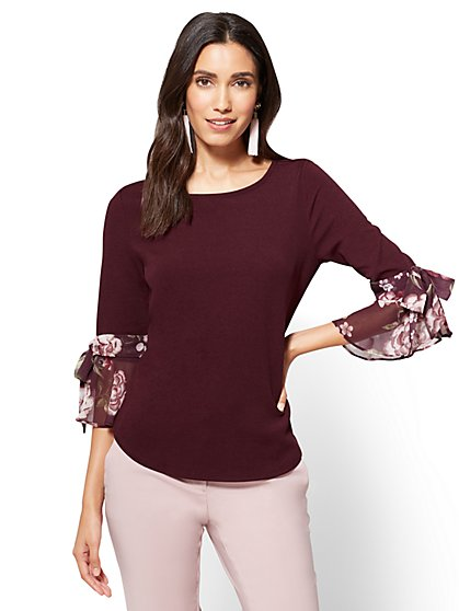 Bell-Sleeve Top  - New York & Company