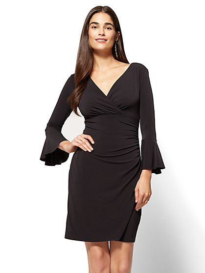 Bell-Sleeve Wrap Dress  - New York & Company
