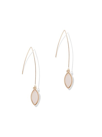 Blush Goldtone Drop Earring - New York & Company