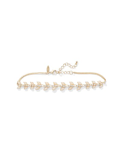 Blush Leaf Choker Necklace  - New York & Company