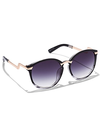 Bolt-Arm Gradient Sunglasses - New York & Company