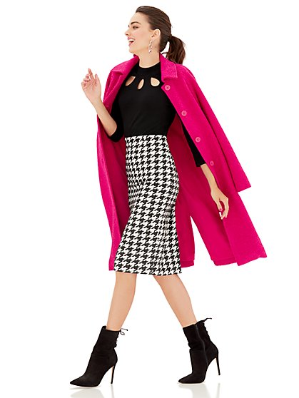 Boucle Wool Coat  - New York & Company