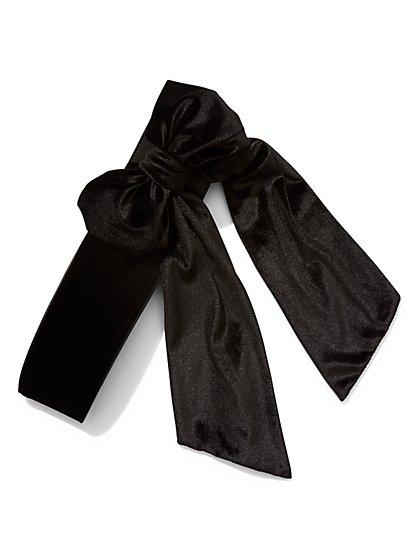 Bow-Accent Velvet Sash Belt  - New York & Company