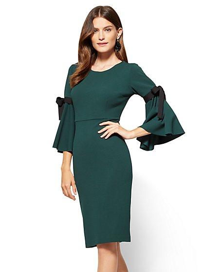 Bow-Detail Sheath Dress  - New York & Company