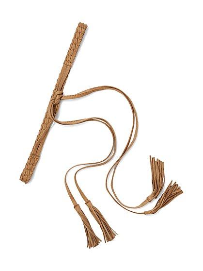 Braided Fringe-Trim Belt  - New York & Company