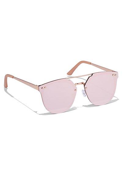 Brow Bar Shield Frame Sunglasses  - New York & Company