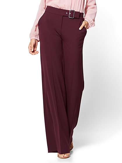 Buckled Palazzo Pant - Petite - New York & Company