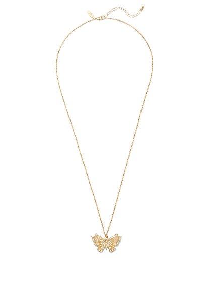 Butterfly Pendant Necklace  - New York & Company