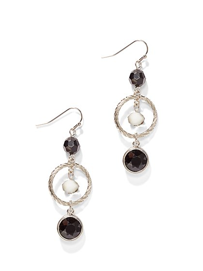 Cable Circle Drop Earring  - New York & Company