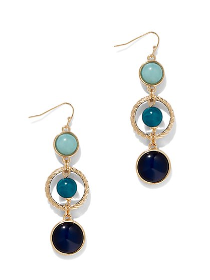 Cabochon Linear Drop Earring - New York & Company