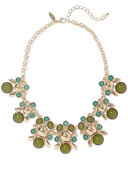 Cabochon Statement Necklace  - New York & Company