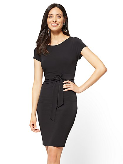 Cap-Sleeve Sheath Dress - New York & Company