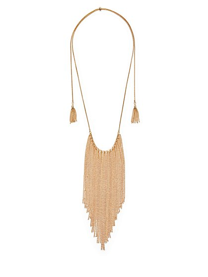 Chain-Link Fringe Statement Necklace  - New York & Company
