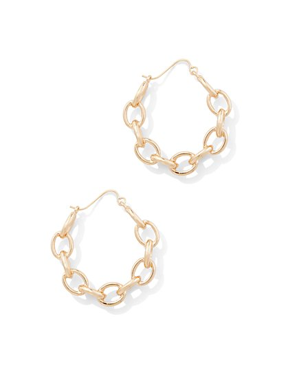 Chain-Link Hoop Earring - New York & Company